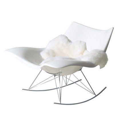 Rocking Chair Stingray Fredericia Pure White Rocking Chairs And - Fauteuil rocking chair design