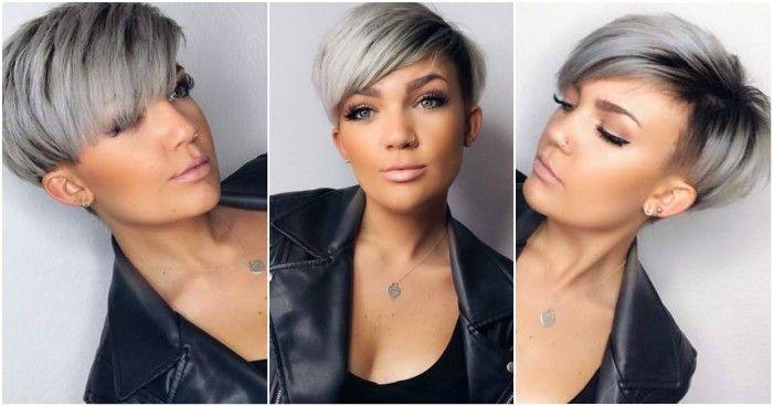 Moderne Grau Kurze Frisuren Diese Damen Haben Eine Trendige Graue