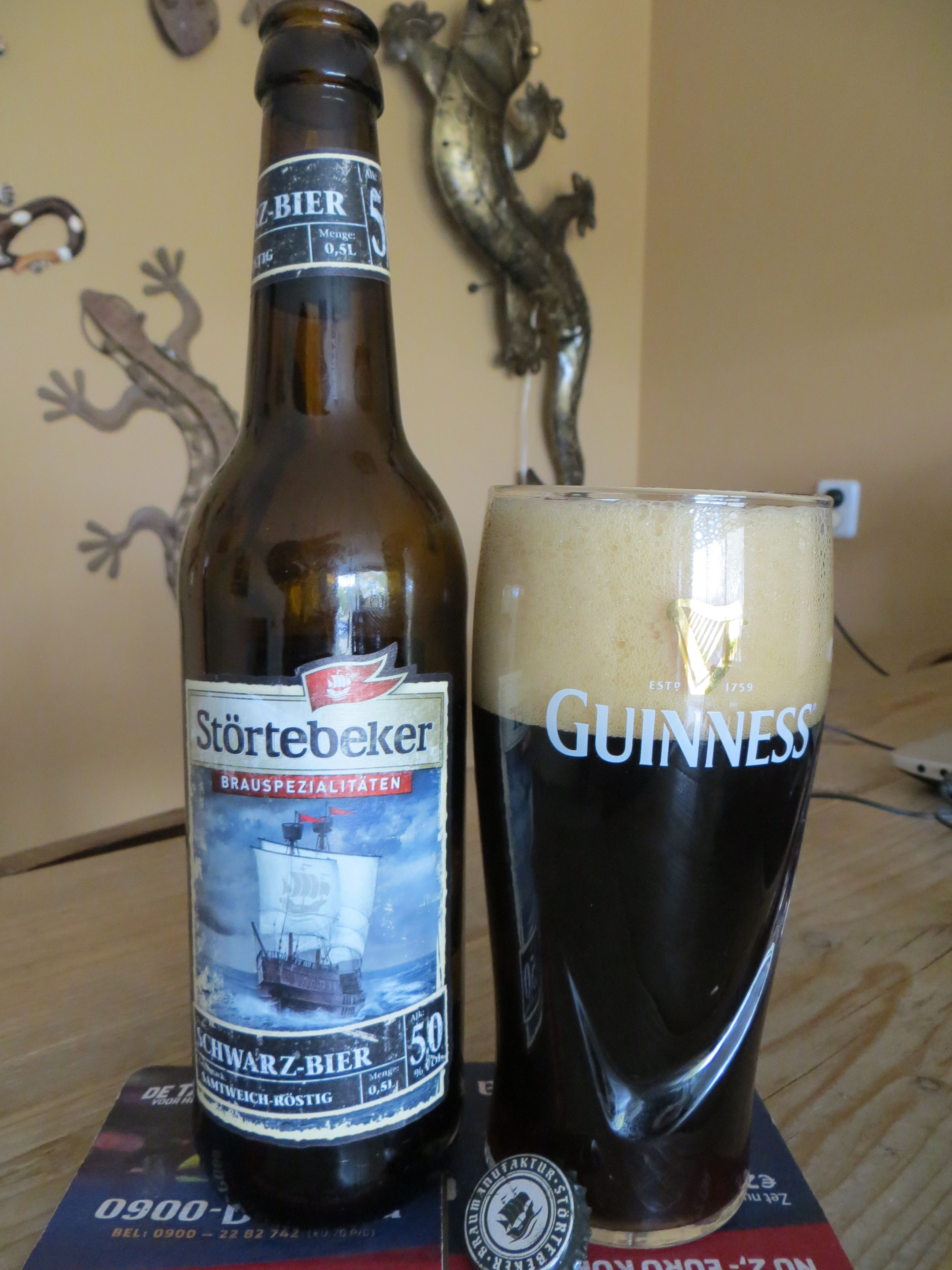 Stortebeker schwarz bier 5%