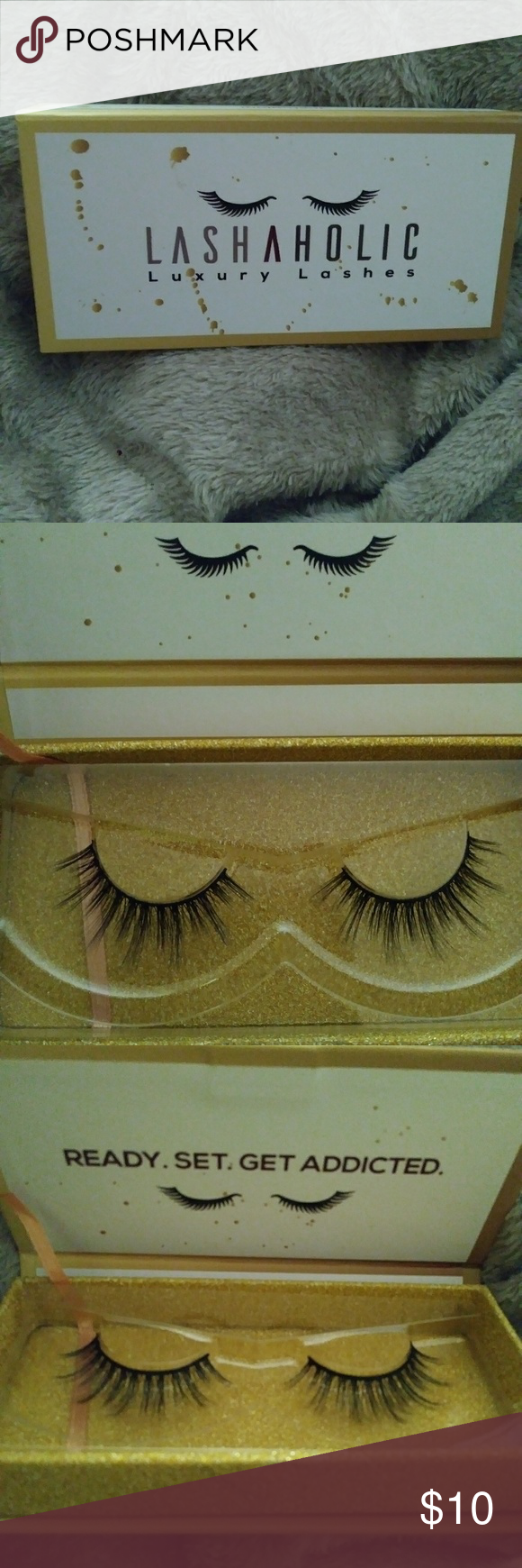 852c95fb9e7 100% vegan falsies..Made from silk fibers.. Giving you Dimension, Length,  Volume & A Natural Look... New and Unused... #63 LASHAHOLIC Makeup False  Eyelashes