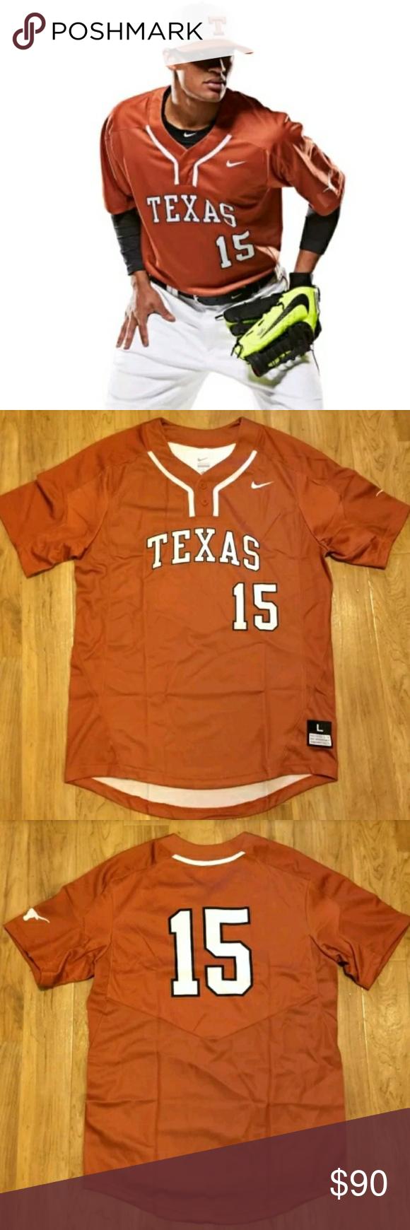 buy popular 089d4 cc9a9 Nike Texas Longhorns Baseball Jersey 2-button Texas ...
