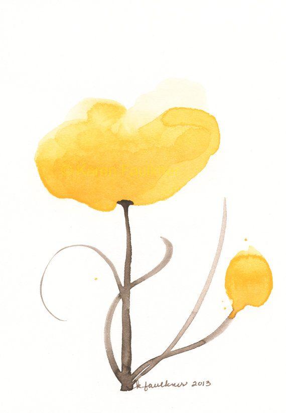 Hello Sunshine Watercolor By Karen Faulkner Card Art Watercolor