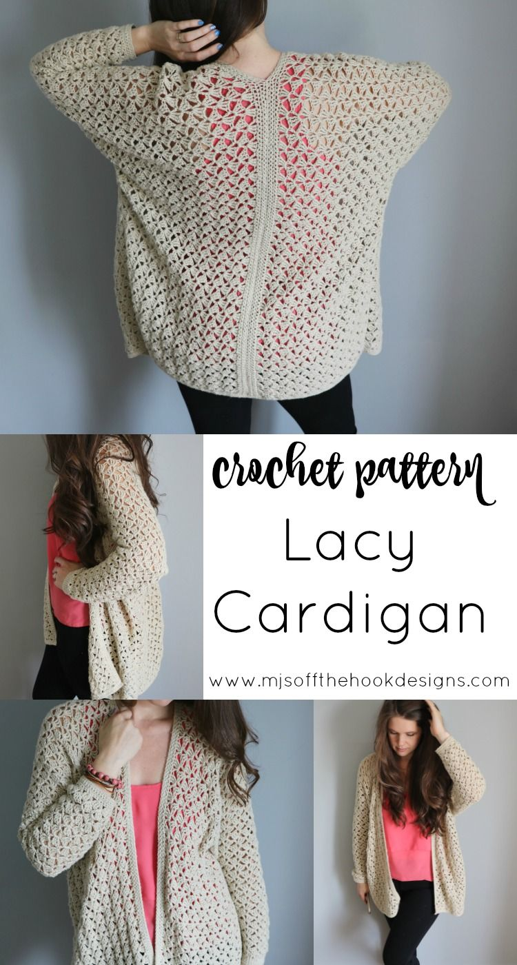 Crochet an Easy Lacy Spring Cardigan | crochet verano | Pinterest