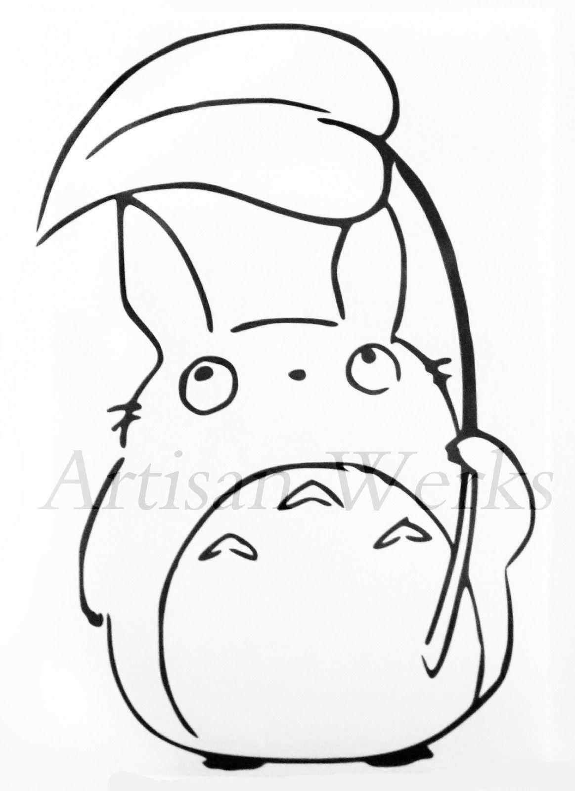 My Neighbor Totoro Chu Totoro Decal Sticker Leaf Manga Anime Car Window Laptop Totoro Drawing Totoro Art My Neighbor Totoro [ 1600 x 1163 Pixel ]