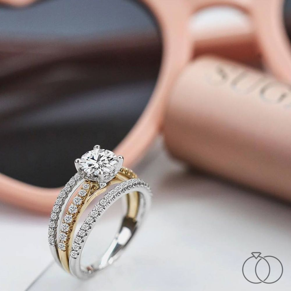 Diamond Engagement Ring Wedding Ring In 14k Solid Gold Promise Ring Gift For Her In 2021 Gold Rings Fashion Gold Ring Designs Ladies Diamond Rings