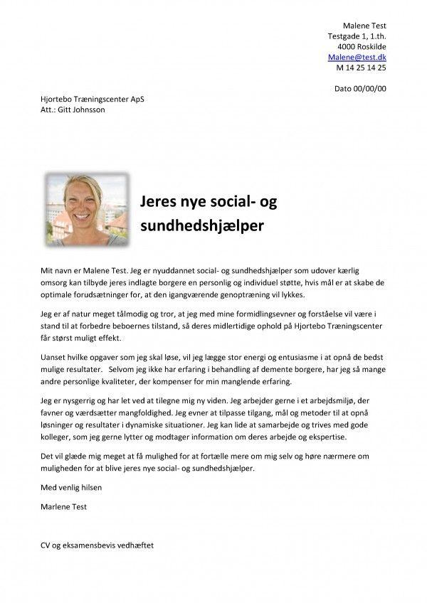 Jobansøgning social- og sundhedshjælper nyuddannet | Ansøninger | Pinterest