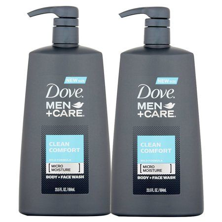 2 Pack Dove Men Care Clean Comfort Body Wash Pump 23 5 Oz Dove Men Care Dove Men Body Wash