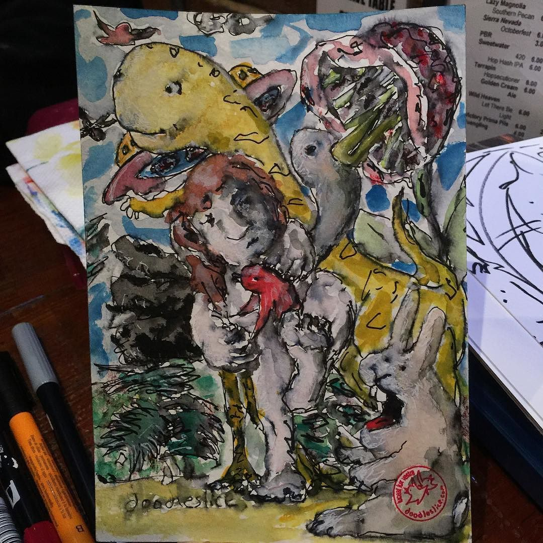 The perils and pleasures of time travel 2015-10-14 11:17pm #atlsketchsociety #getsketchy26 #echo