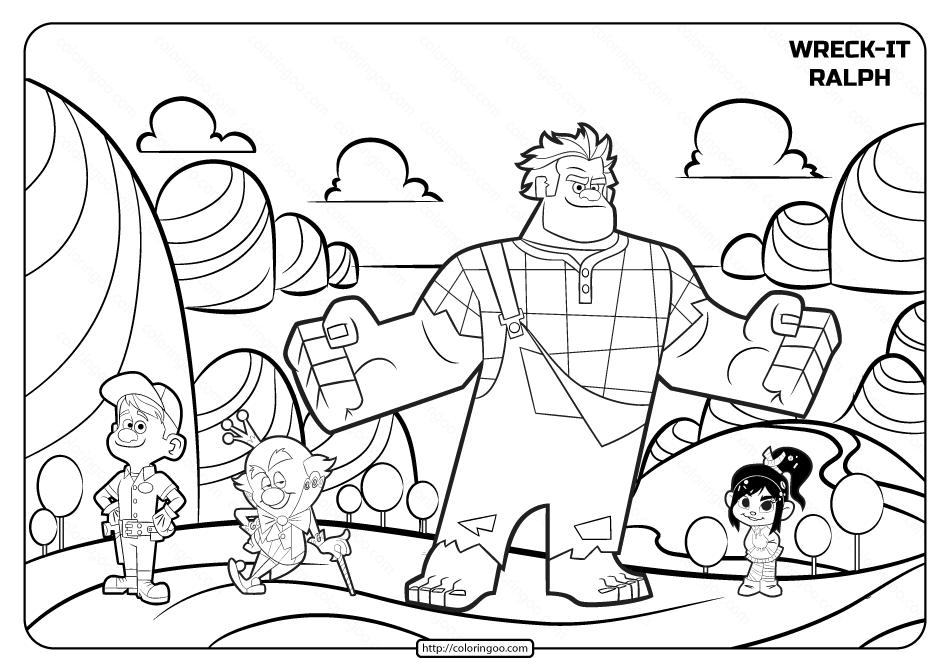 Wreck It Ralph Coloring Pages Disney Coloring Pages Coloring Pages Coloring Books