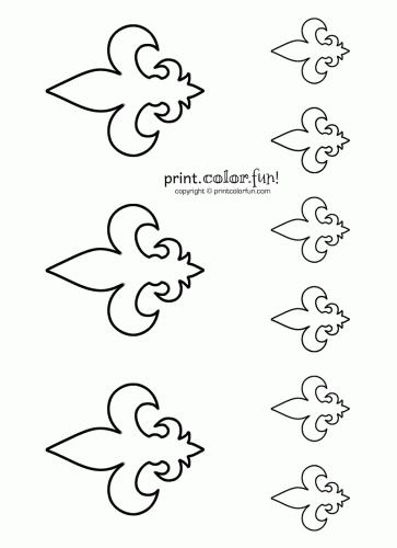 Stencils: Fleur de lis 2 | Print. Color. Fun! Free printables