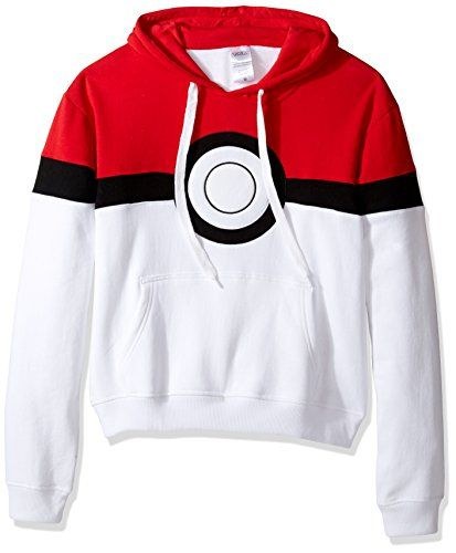 Pokemon Men s Pokeball Hoodie - Great Gift 11 Year Old Boys 6883ea72c8