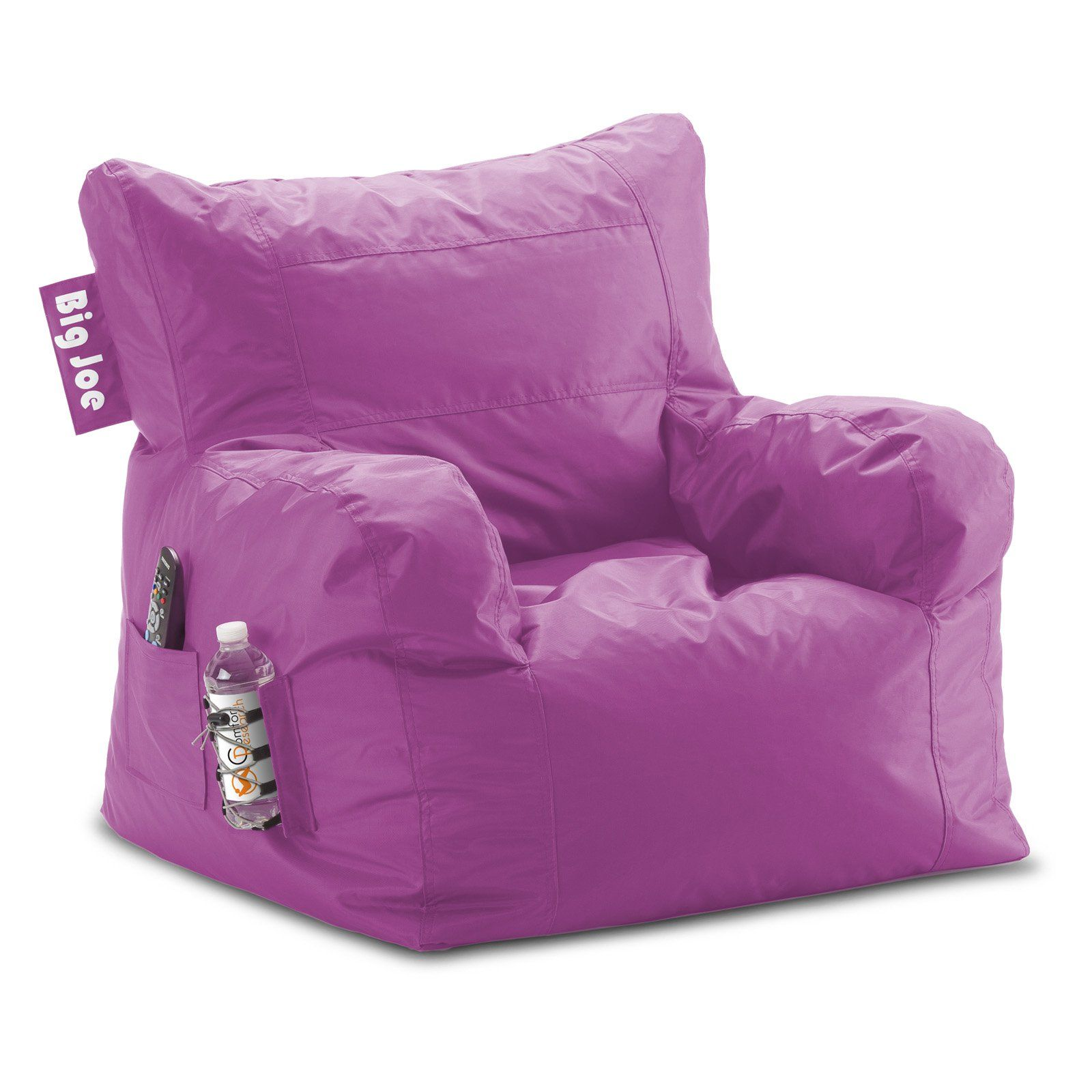Peachy Big Joe Dorm Bean Bag Chair Radiant Orchid Products In Pabps2019 Chair Design Images Pabps2019Com