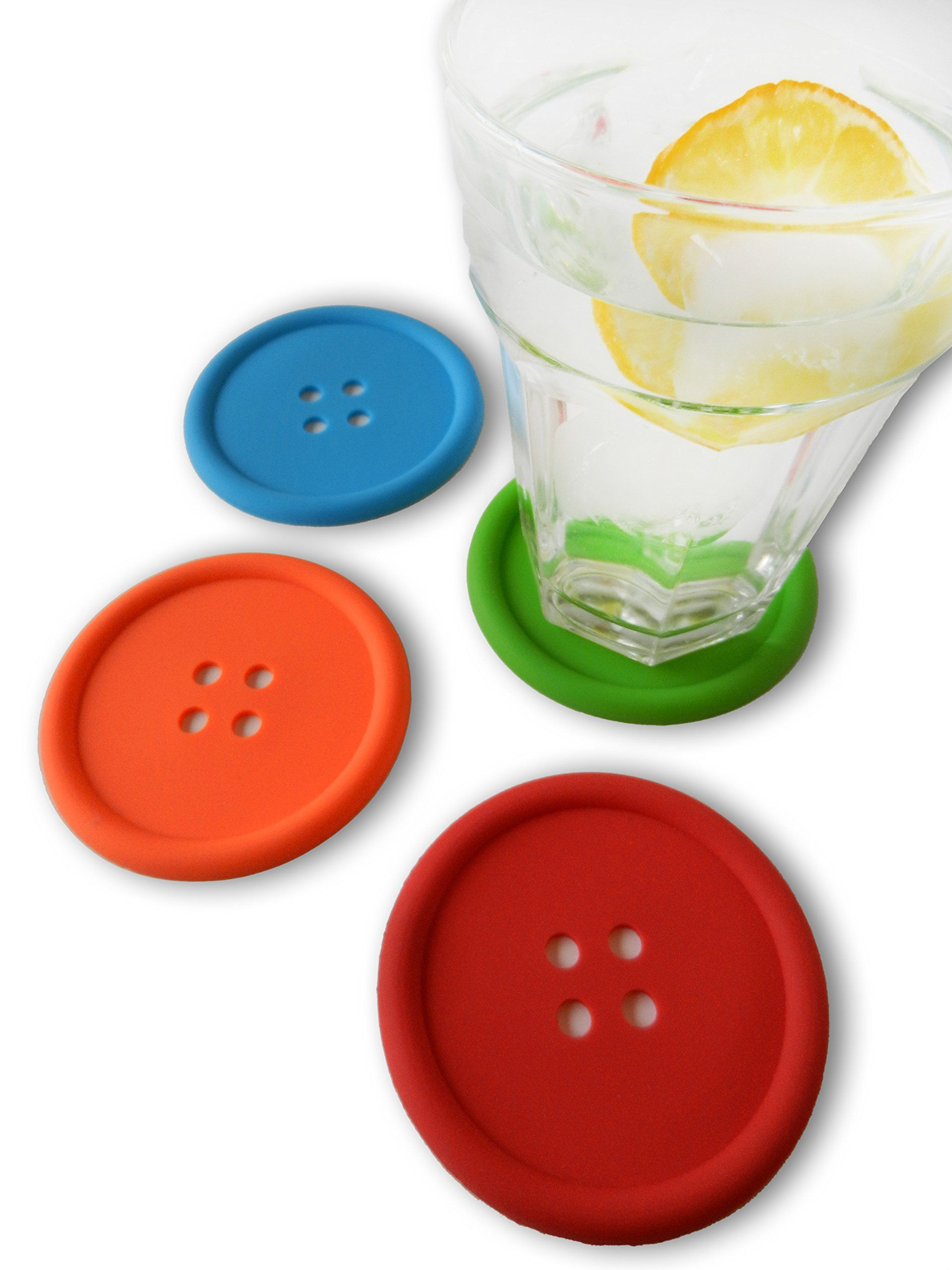 Coasters for drinks, set of 4, colorful table
