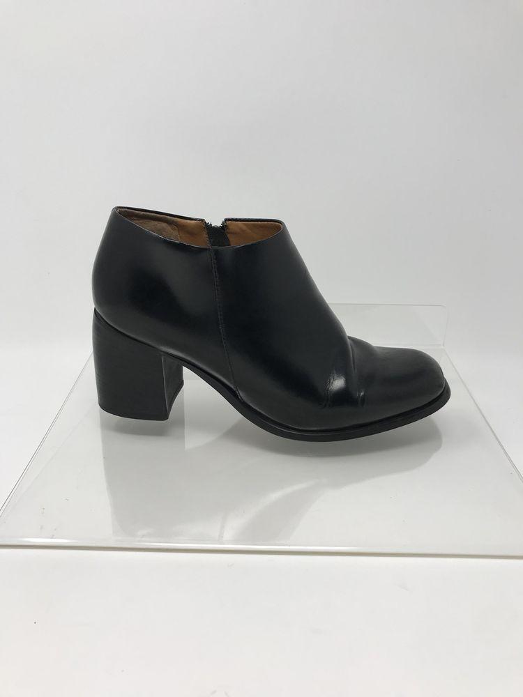 6b761331276 Etienne Aigner Black Boots Ankle Bootie Lacey Heels Size 6.5 M ...