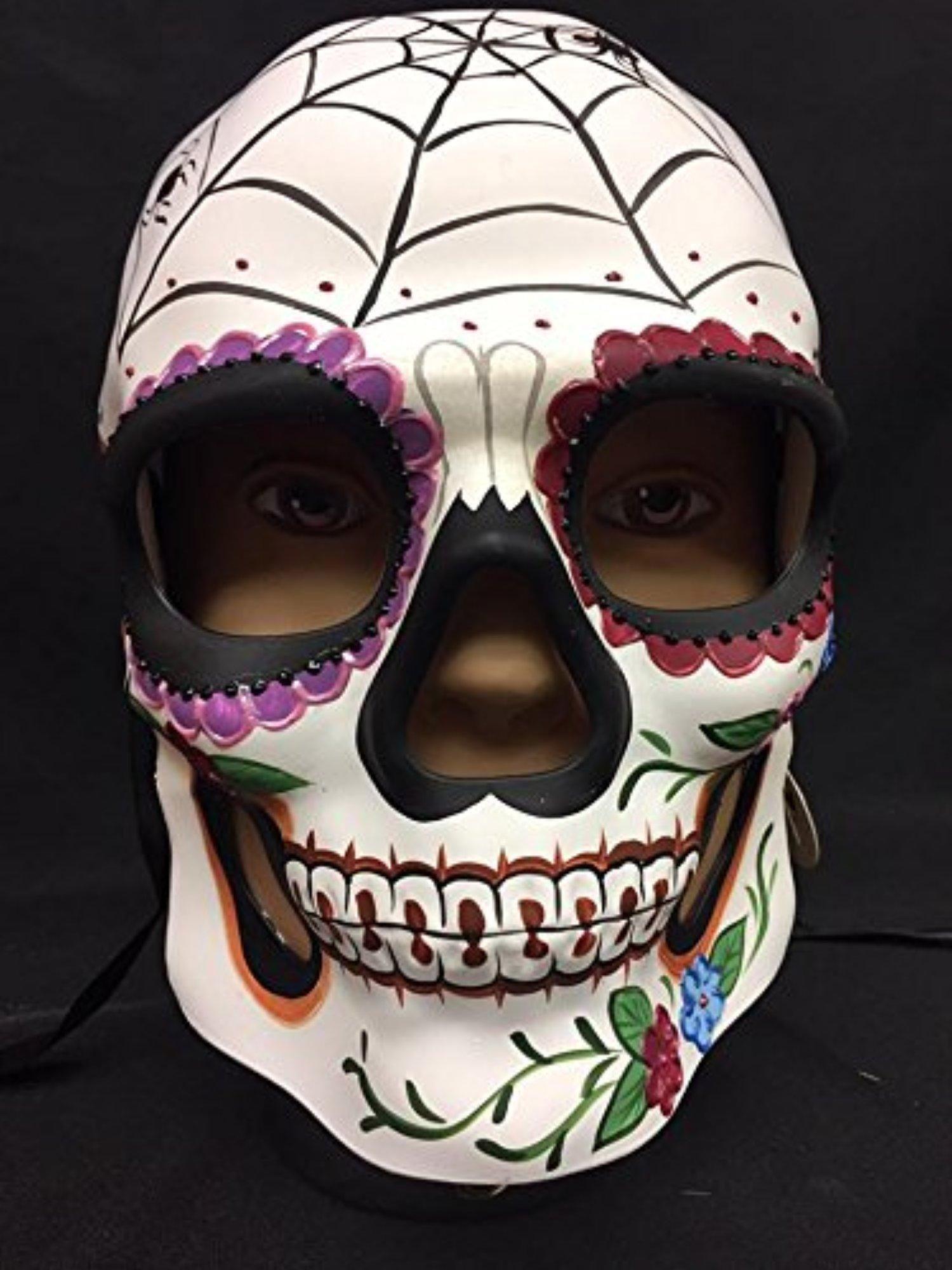 Spider Design Day Of The Dead Skull Mask Halloween Theme