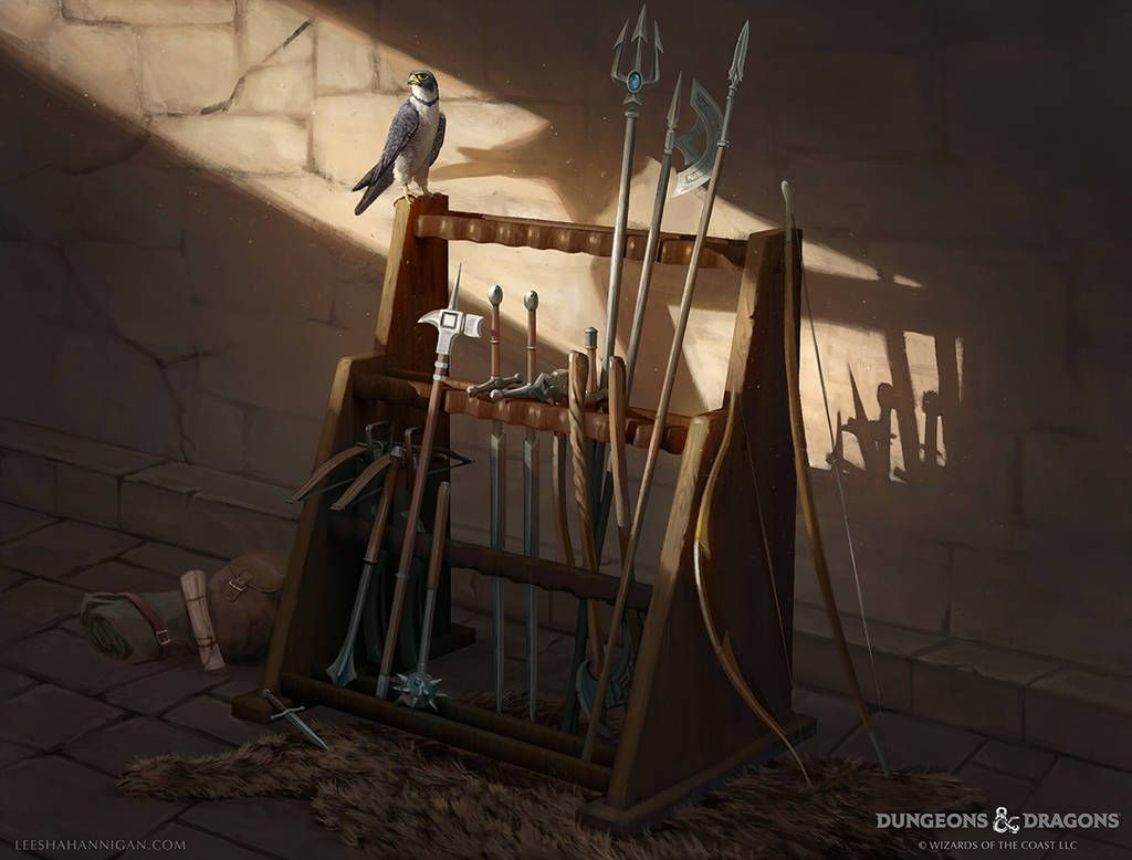 Dungeons And Dragons Weapon Rack By Leeshahannigan On Deviantart