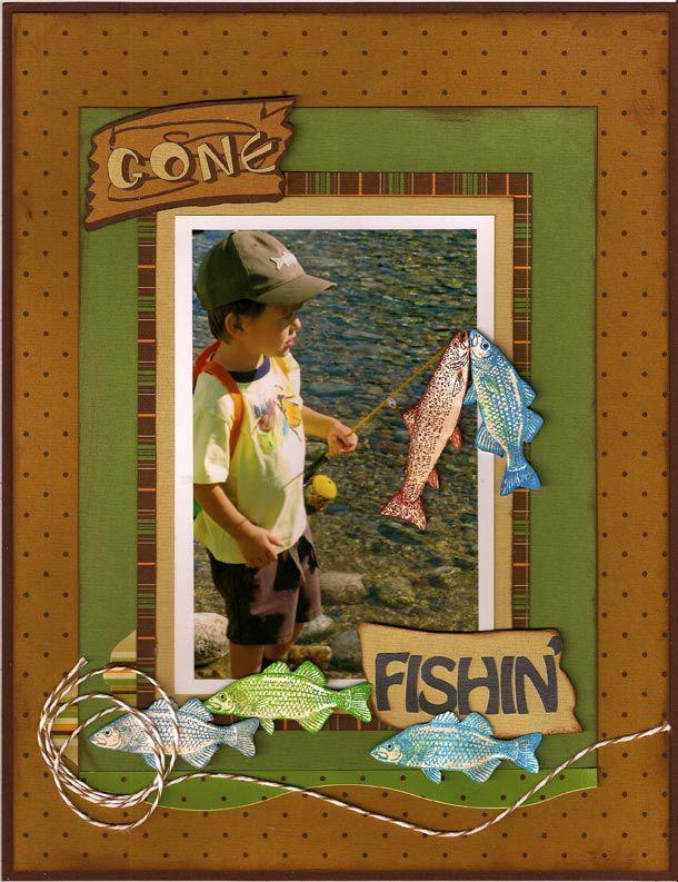 Gone Fishin' - Moxxie - Scrapbook.com | Scrapbooking ...