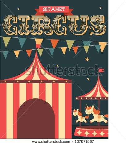 Circus vintage poster template Free Vector | Carnival | Pinterest ...
