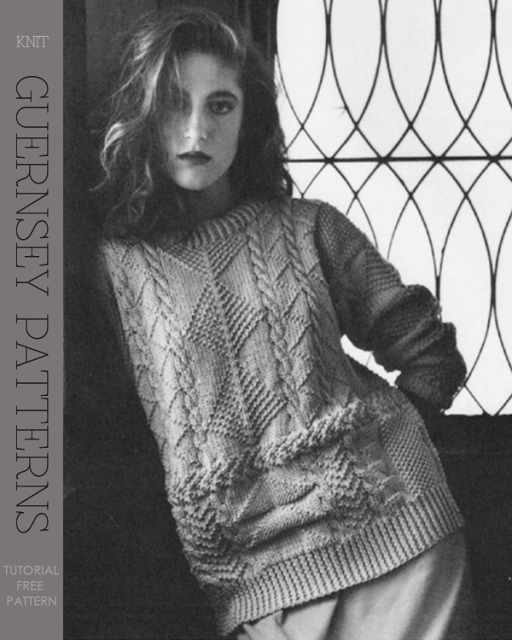 What is a Guernsey Pattern | Tutorial, how to create your own design | free patterns