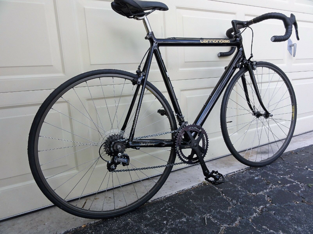 Cannondale BLACK lightning 56cm 1990 3.0 series racing bike | eBay