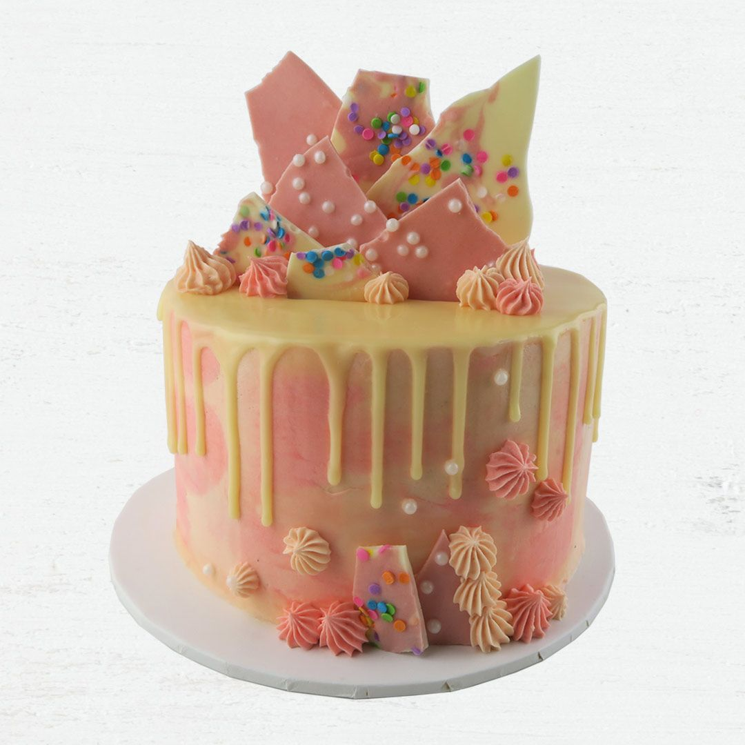 Drip Cake With White Chocolate Bark Buttercream Our Signature Range Baking Kit