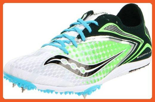 Saucony Women's Endorphin Spike LD3 Track Shoe,White/Green,12 M US -
