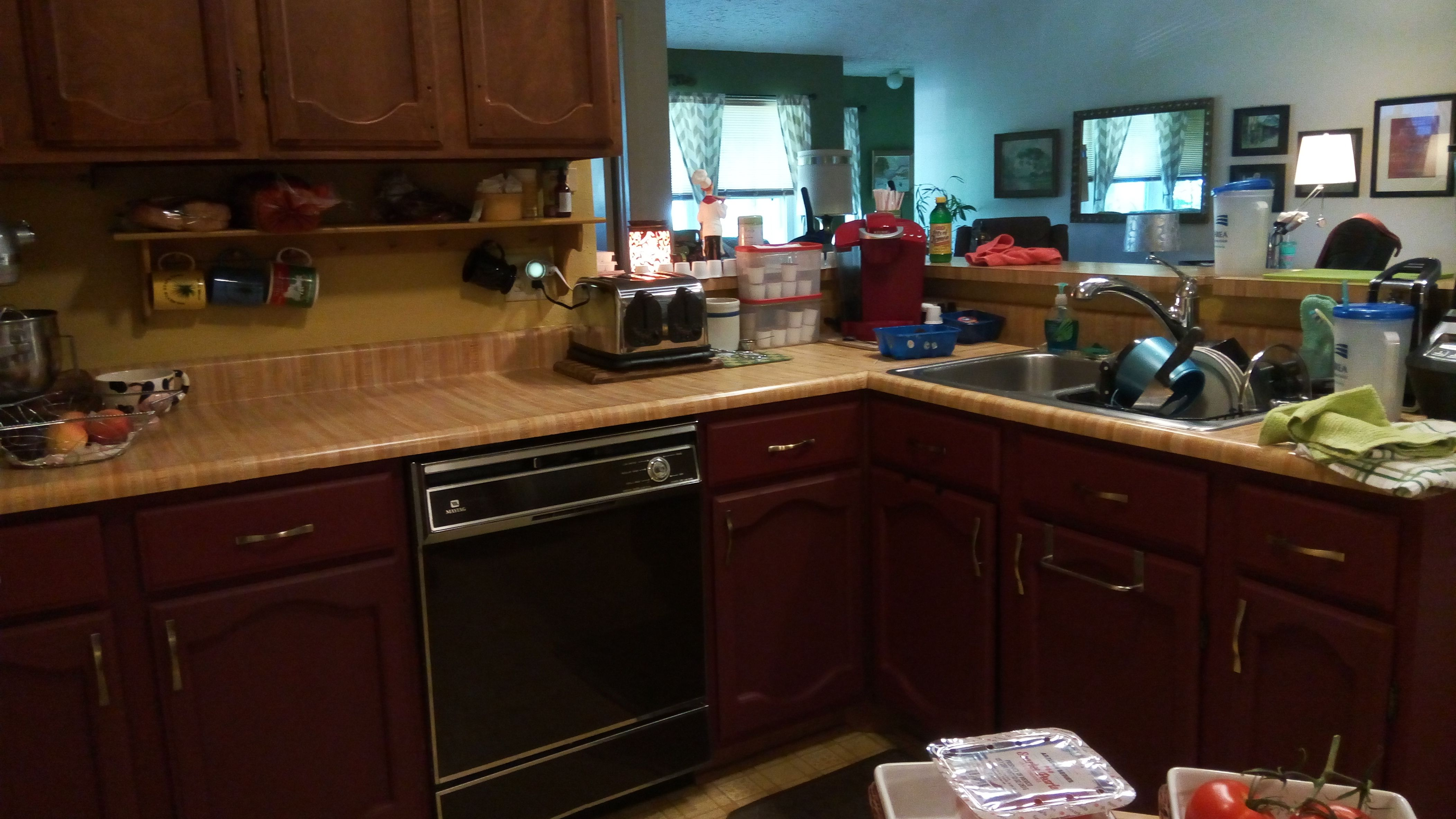 Waverly Chalk Painted Cabinets In The Color Crimson Black Chalk Paint Kitchen Cabinets Chalk Paint Cabinets Painting Kitchen Cabinets