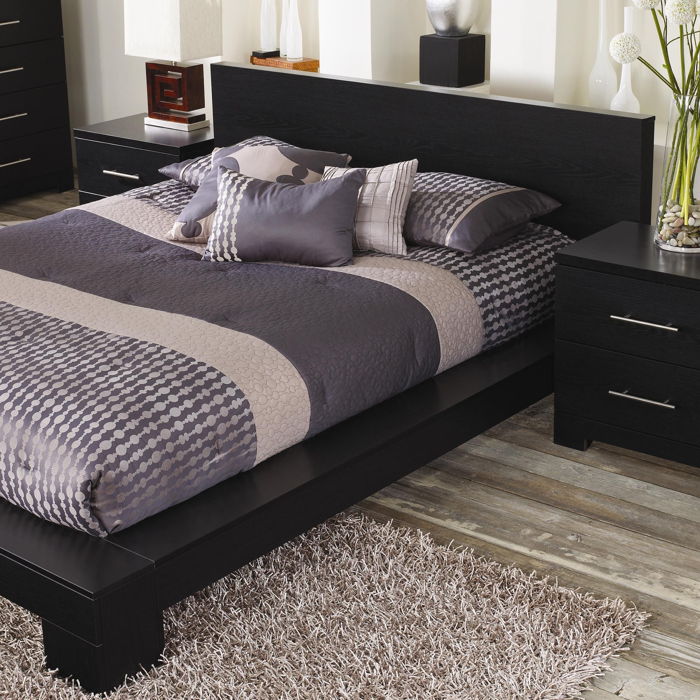 Lang Furniture Brooklyn Cinder Oak Loft Platform Bed - Low profile  available in Full, Queen