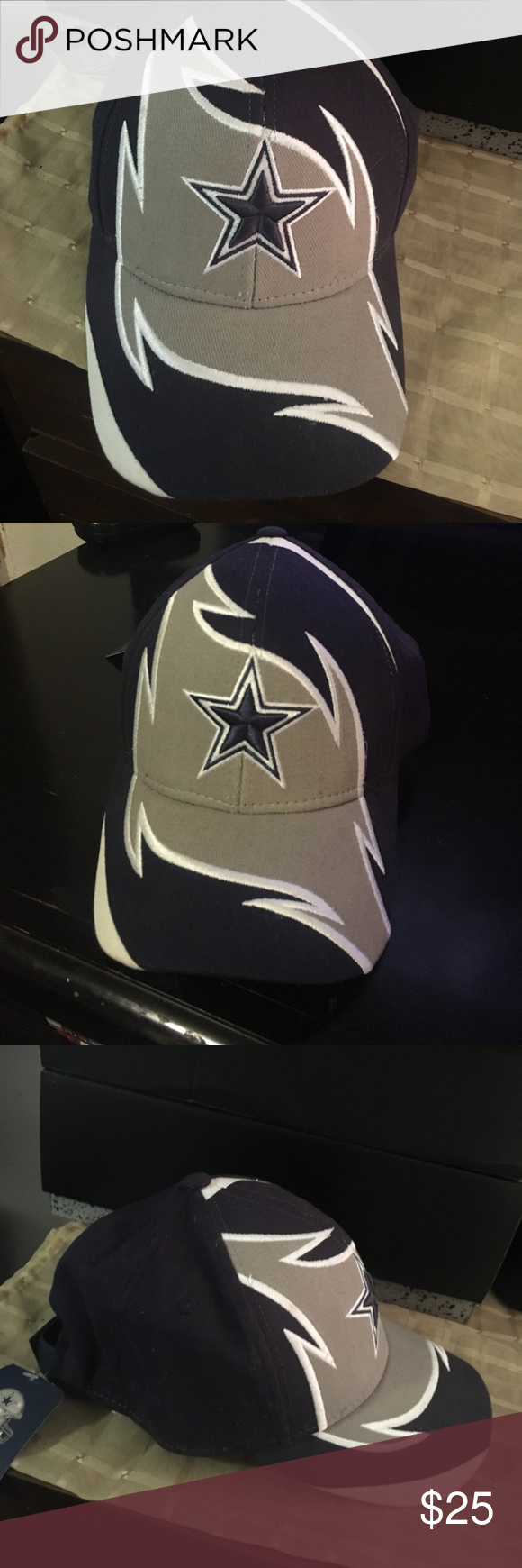 193e7123debe9 Dallas Cowboys Dad Cap   Hat  NEW  Official NFL Apparel Dallas Cowboys Dad  hat with strap back Brand New With Tags NFL Accessories Hats