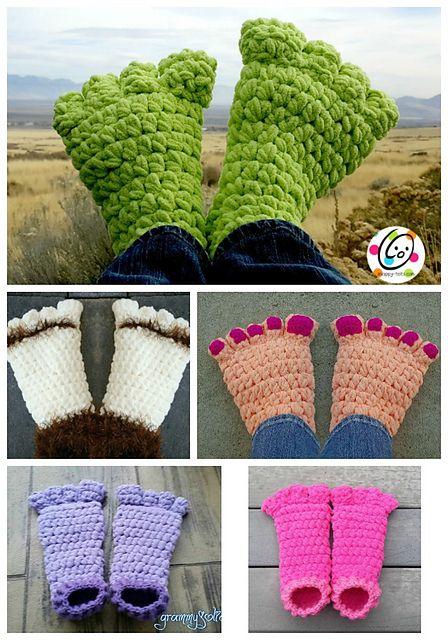 Troll Toes and Big Feet pattern by Heidi Yates | Häkeln, Doof und ...