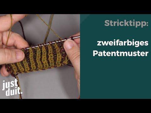 Photo of zweifarbiges Strickmuster stricken