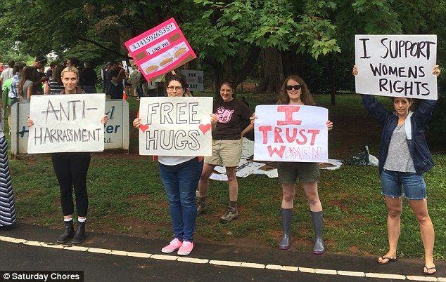 Funny Anti Anti Abortion Protesters