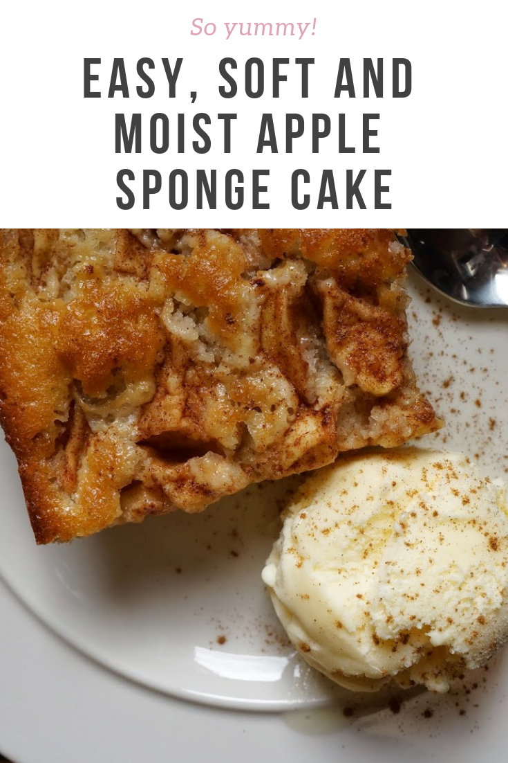 Really Easy Soft And Moist Apple Sponge Cake Apple Sponge Cake Recipes Eat Seasonal