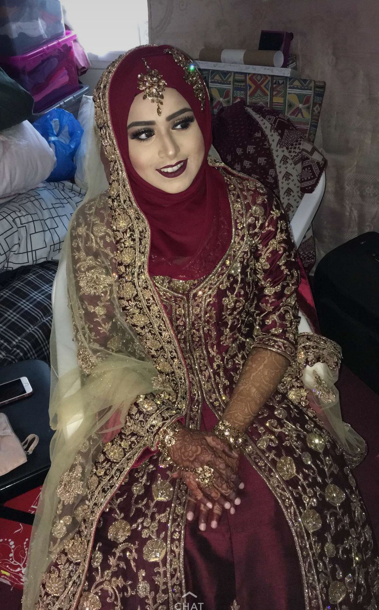 Hijab Style For Pakistani Brides