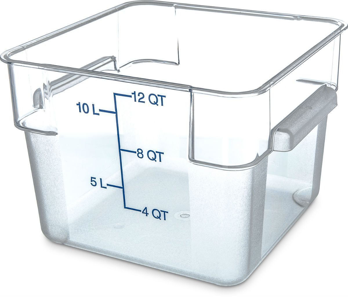 Carlisle 10724 07 12 Qt Clear Square Food Storage Container Storage Containers Carlisle And Food Storage