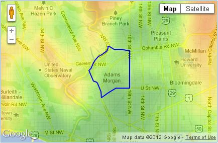 Adams Morgan Dc Map.Map Of Adams Morgan Washington Dc Walk Score 90 Adams Morgan