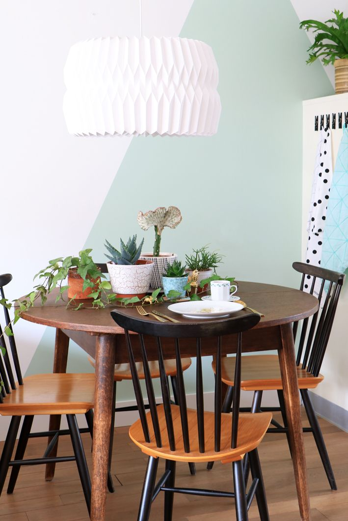 Küchenfarbe wwwkoloratde #KOLORAT #Wandfarbe #Lack #Pastell - dekorative geometrische muster interieur
