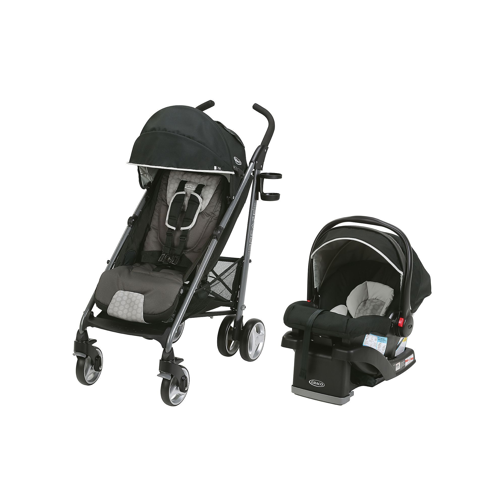 Graco Breaze Click Connect Travel System Baby car seats