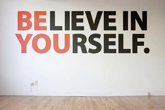 Be You - Believe in Yourself - Typography Wall Decal - Decals for ...