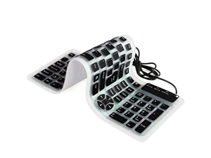 d81588c3849 Zgeer Portable Wired USB Folding Keyboard Silicone Silent Waterproof  Keyboards for Computer Laptop PC