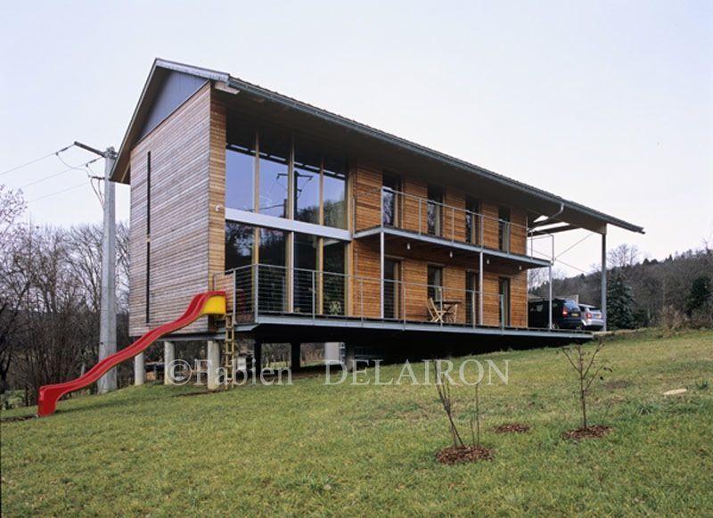 Une maison passive allie inspiration japonaise et performances - construction maison terrain en pente
