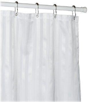 Amazon Com Croscill Fabric Shower Curtain Liner White Home