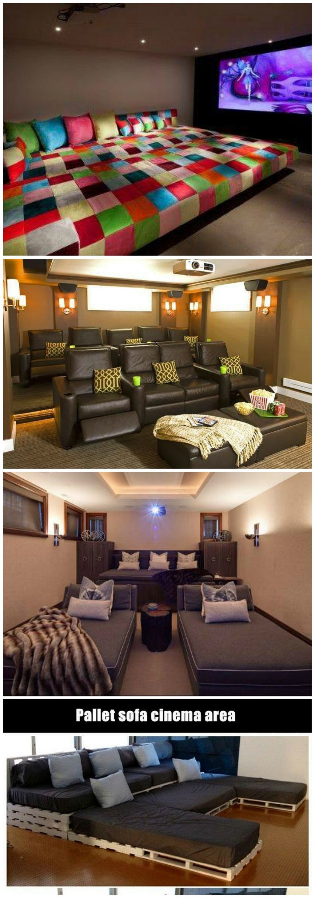 Stunning 33 Awesome Pallet Home Theater Design Ideas Https Kidmagz Com 33 Awesome Pallet Home At Home Movie Theater Home Theater Seating Home Theater Design