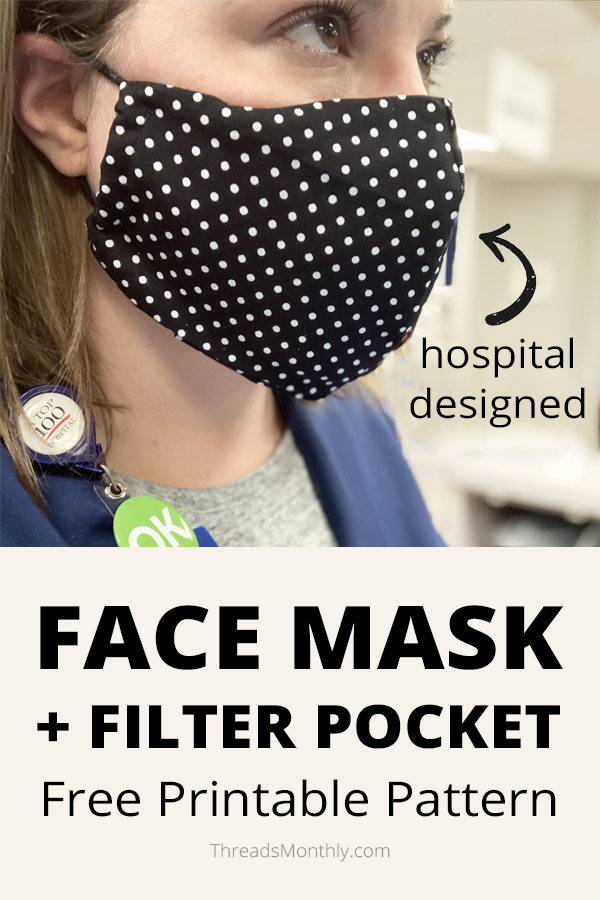 Pin on DIY Face Mask Sewing Patterns (+ Free Printables)