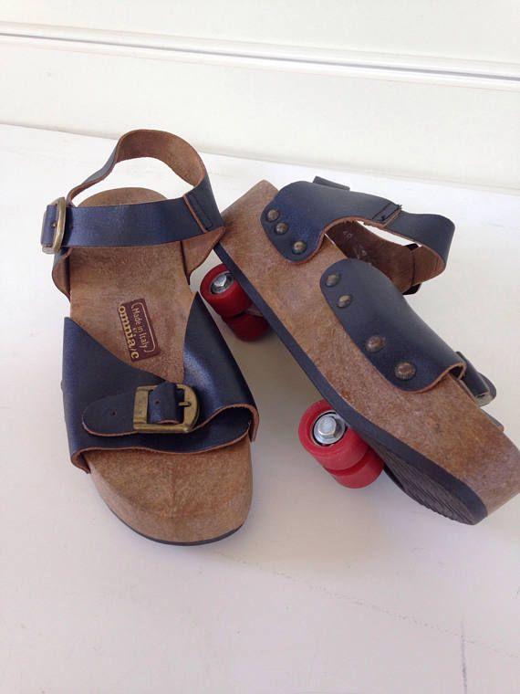31970d7c0cf Vintage 1970 s Omniac platform sandal  rollerskate   pop