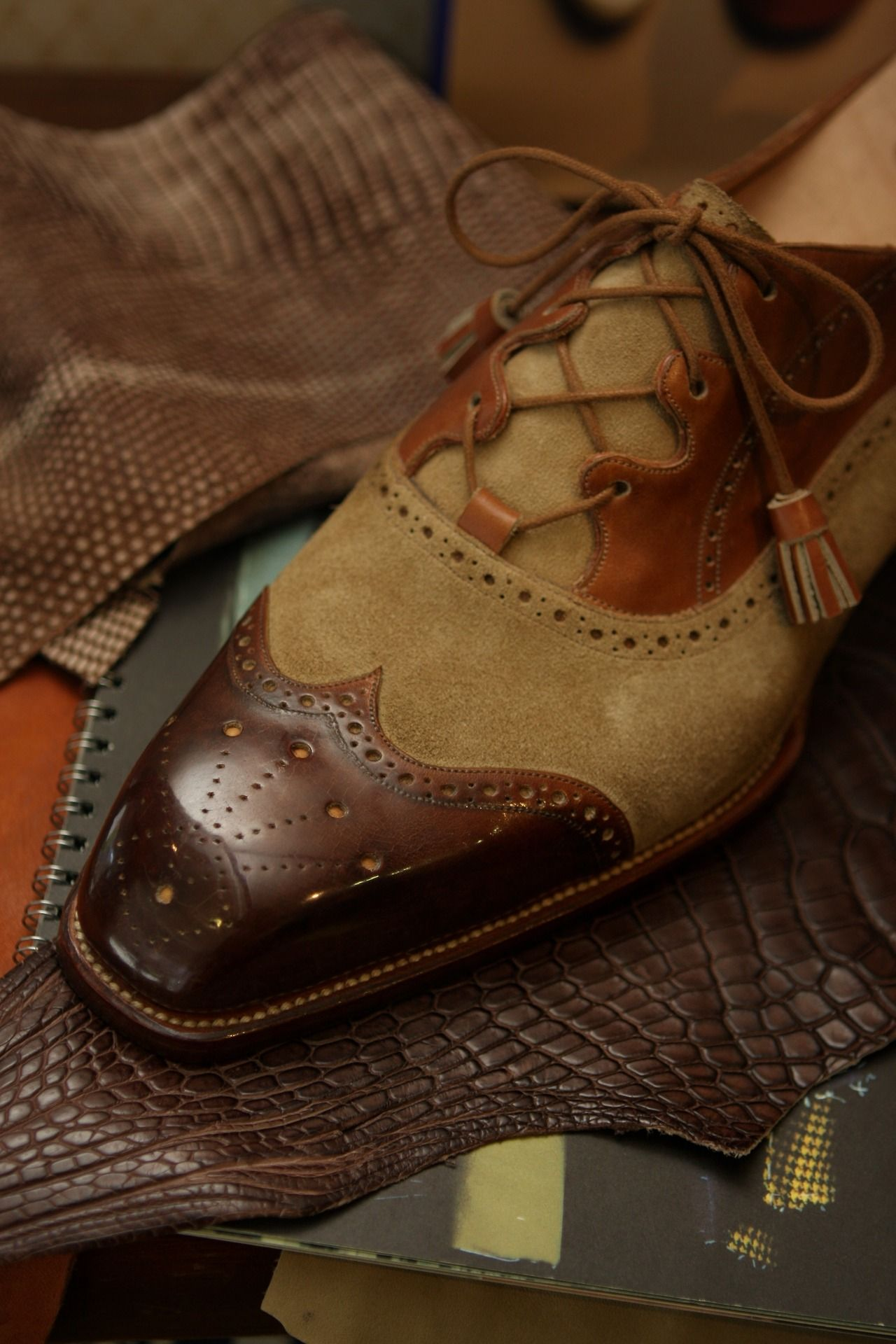 This is not a vest, but this shoe is oh! so sexy! Roberto Ugolini Bespoke Gillie Shoes I LOVE THIS SHOE!