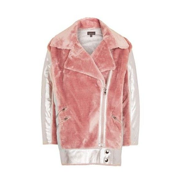 arrives thoughts on retail prices Topshop Metallic Faux Fur Biker Jacket (3.400 RUB) ❤ liked ...