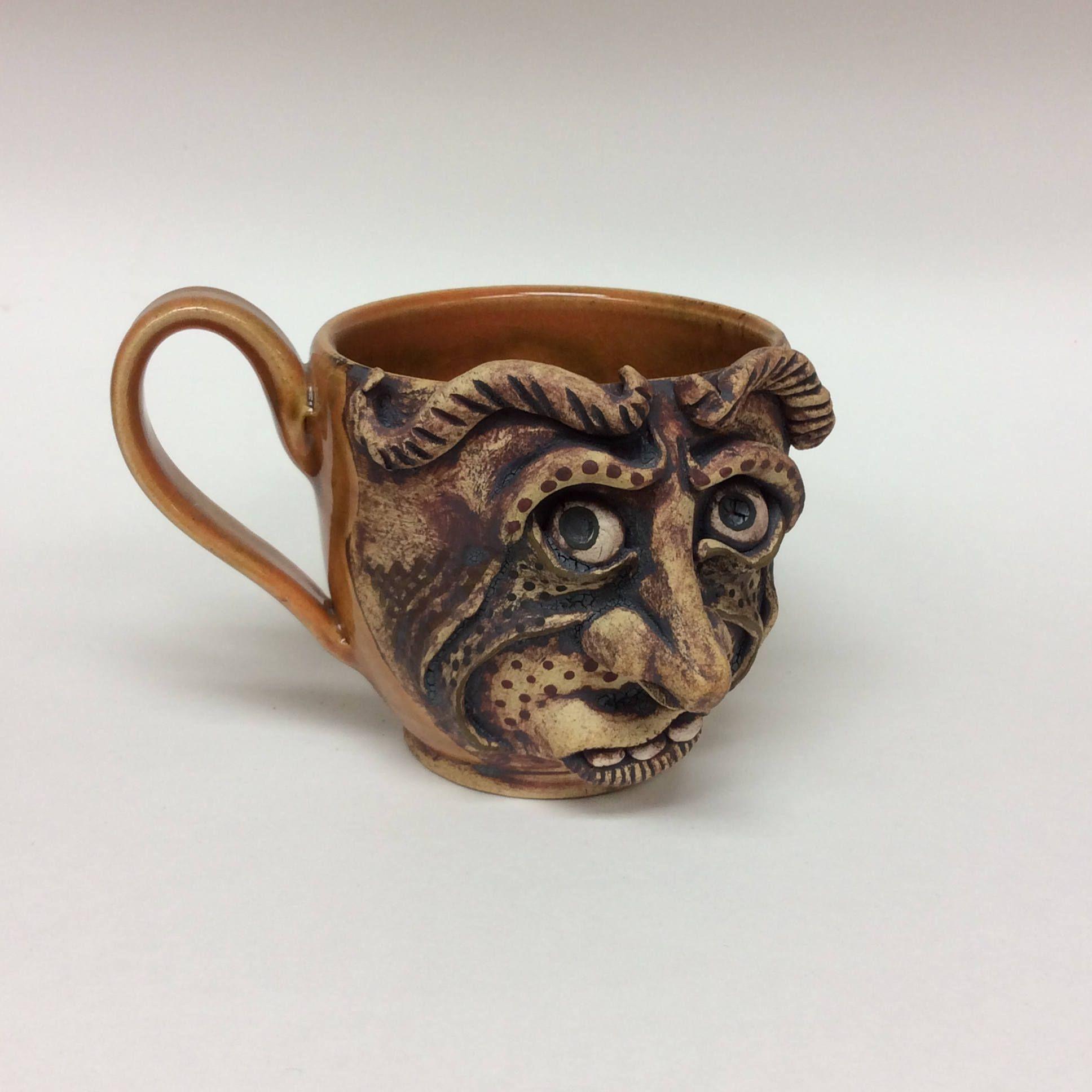 Face mug ceramic face mug ceramic coffee cup handmade cup
