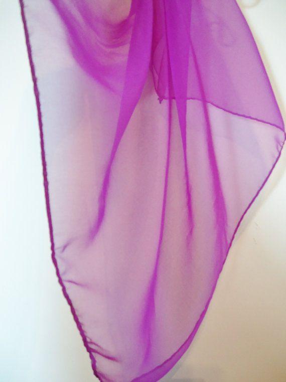 Simple Sheer Bright Orchid Purple Hankerchief Head Scarf #FestivalFashion by POPWILDLIFE, $4.80
