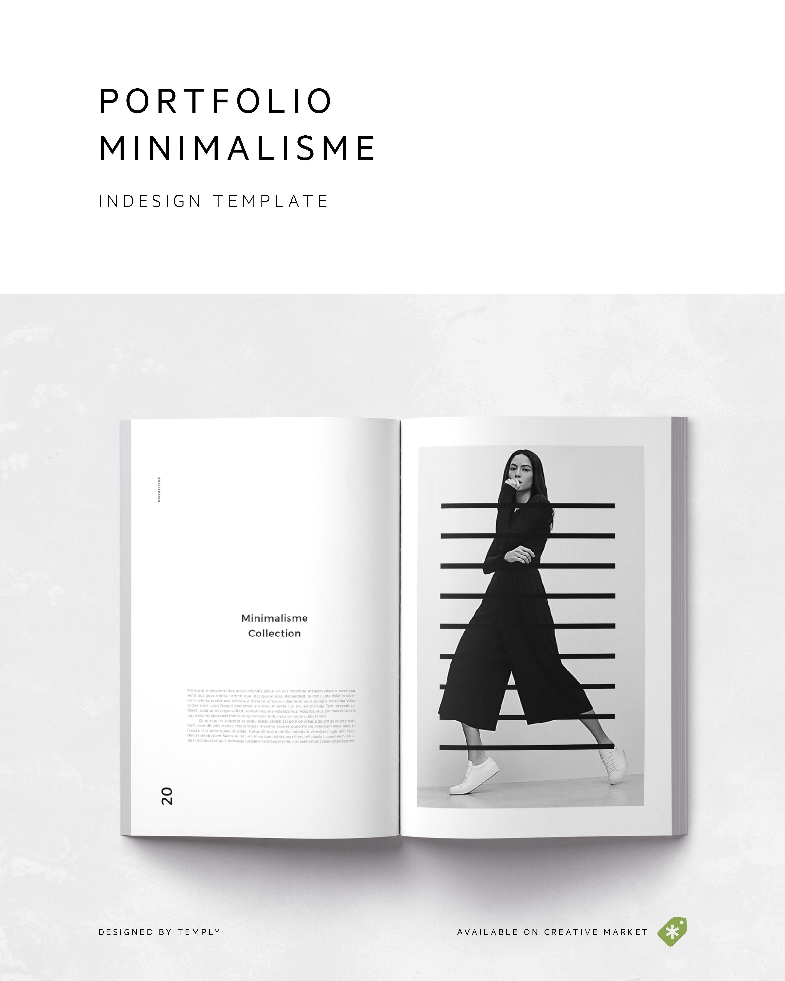 Portfolio Minimalisme | Design portfolio layout, Portfolio layout ...